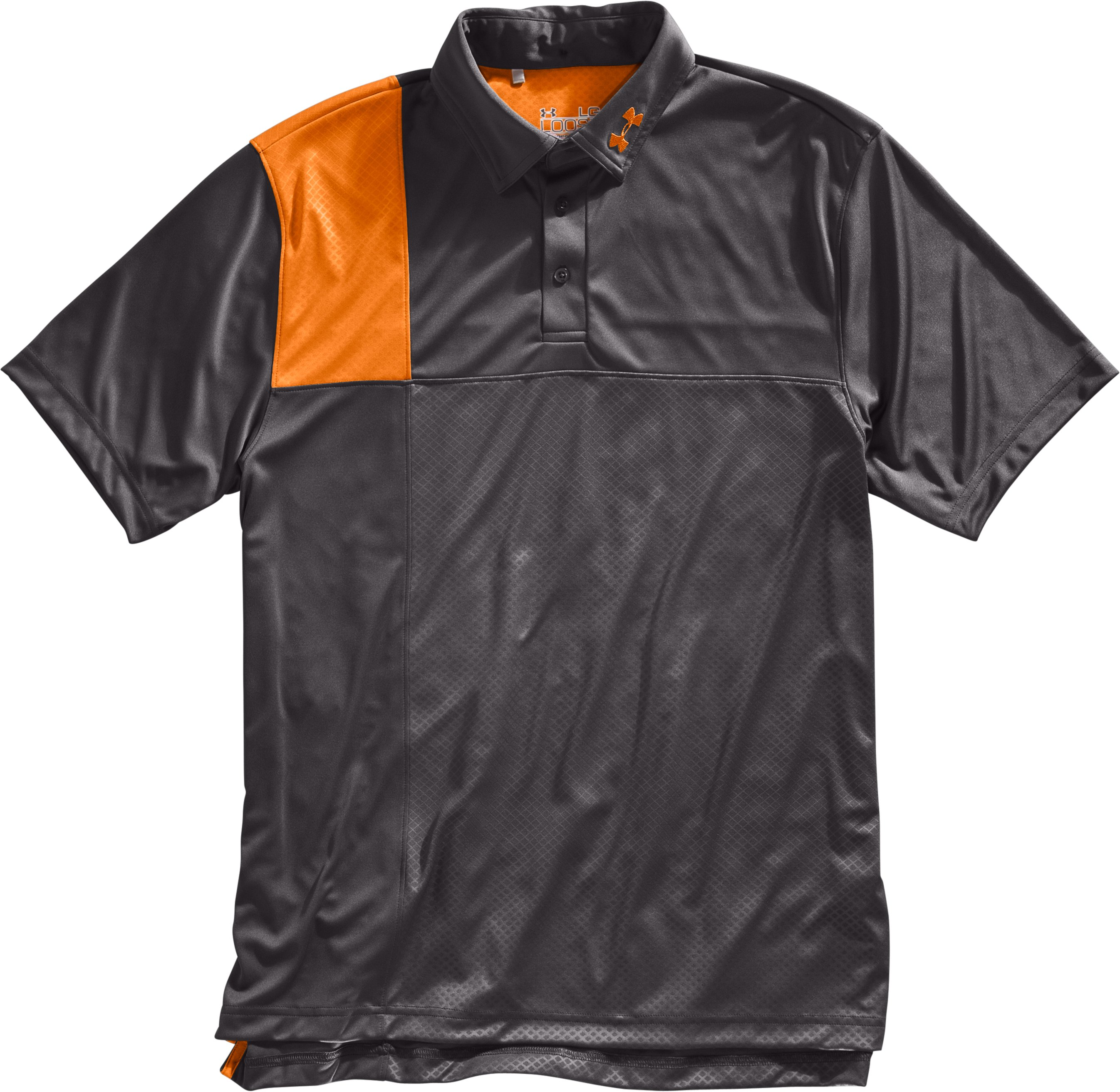 Men's UA Performance Embossed CB Polo, Charcoal, Laydown