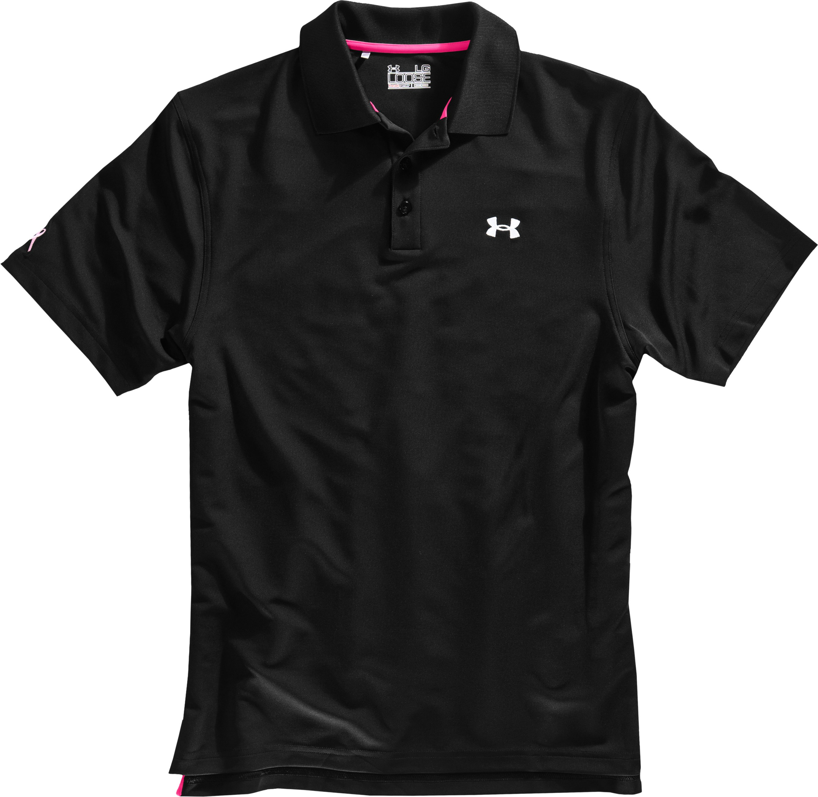 Men's UA PIP® Performance Polo, Black , Laydown