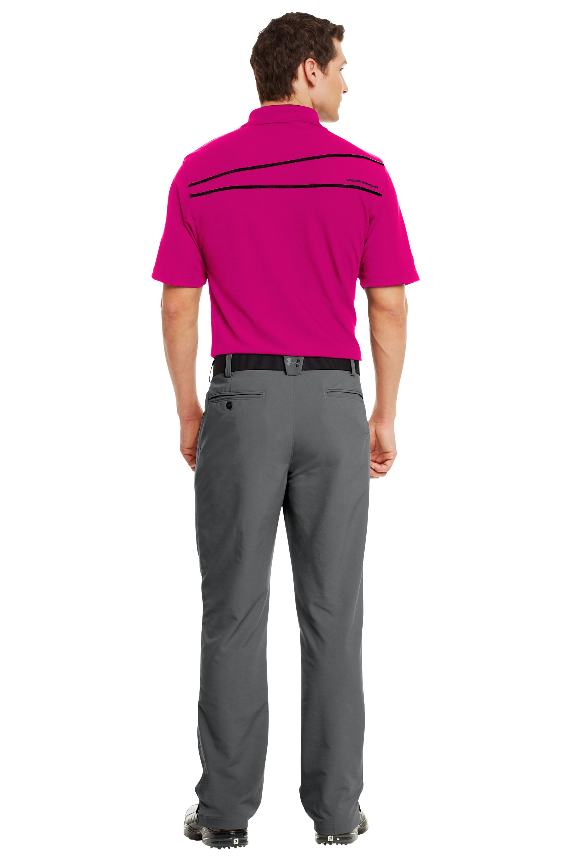 Men's UA PIP® Performance Polo, Tropic Pink, Back