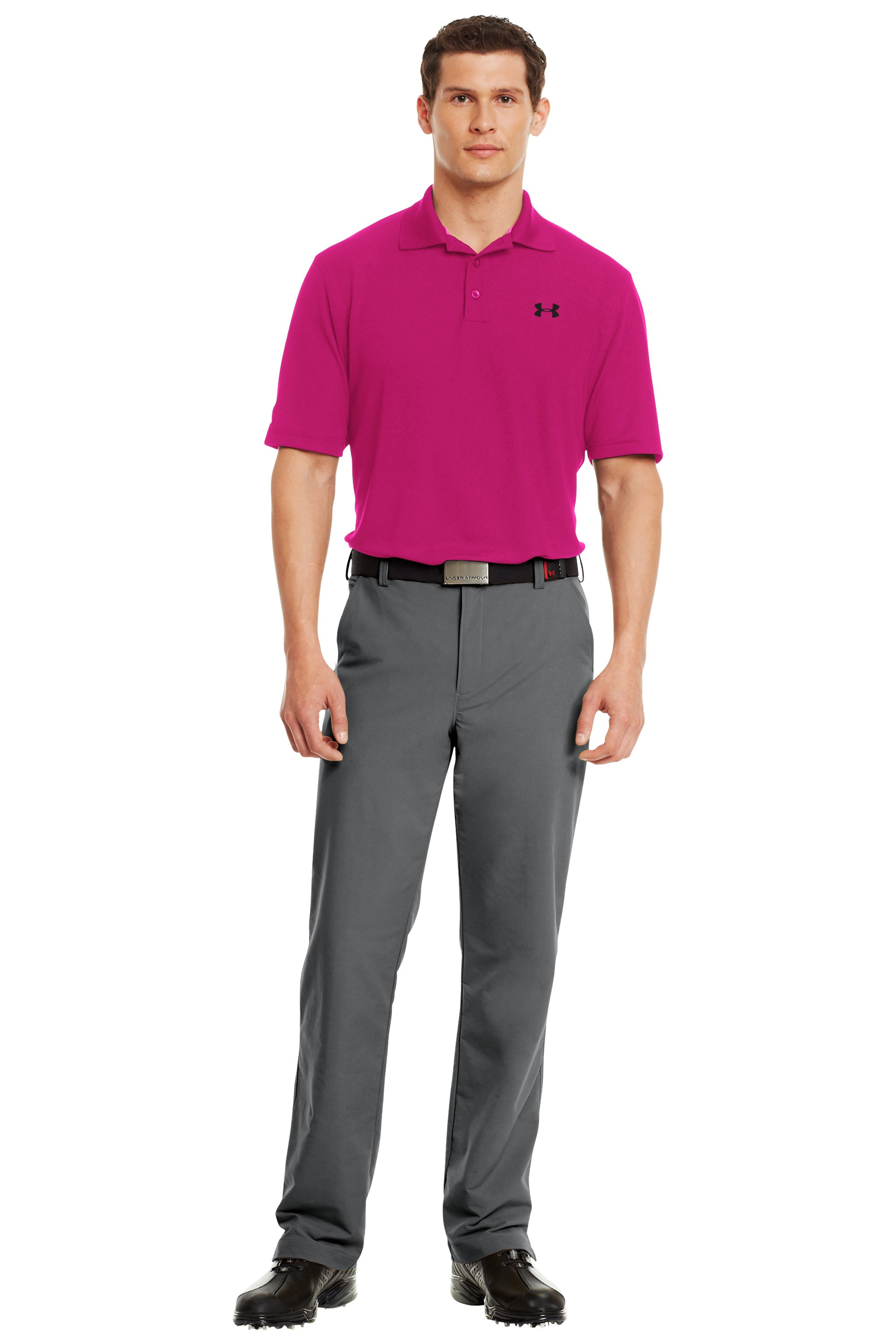 Men's UA PIP® Performance Polo, Tropic Pink, Front