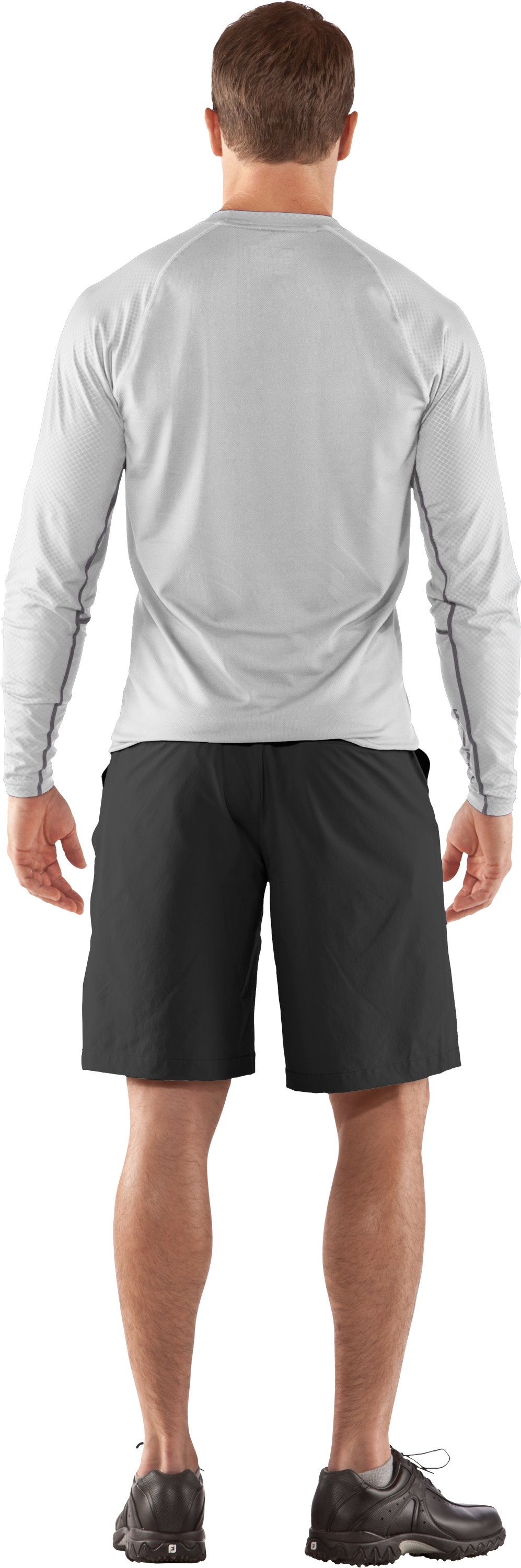 Men's AllSeasonGear® Golf Long Sleeve Shirt, White, Back