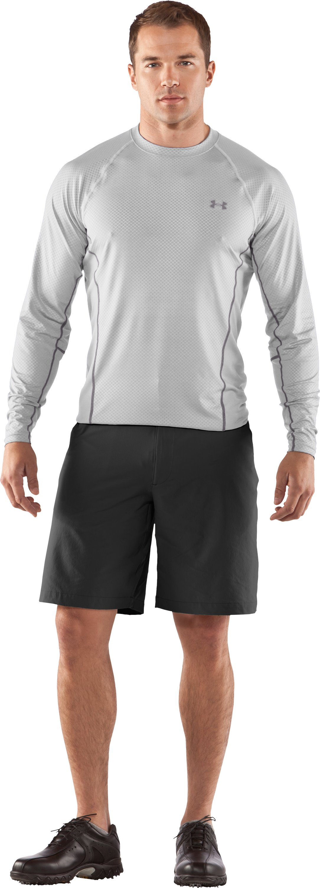 Men's AllSeasonGear® Golf Long Sleeve Shirt, White, Front