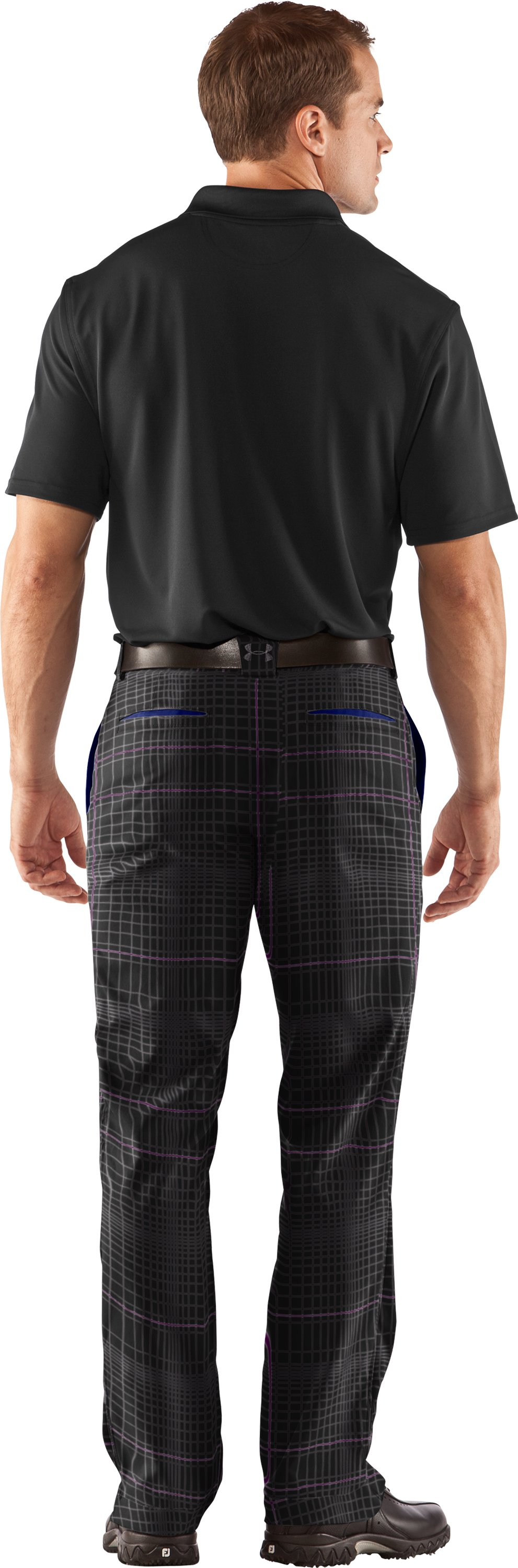 Men's UA Storm ColdGear® Elements Golf Pants, Black , Back