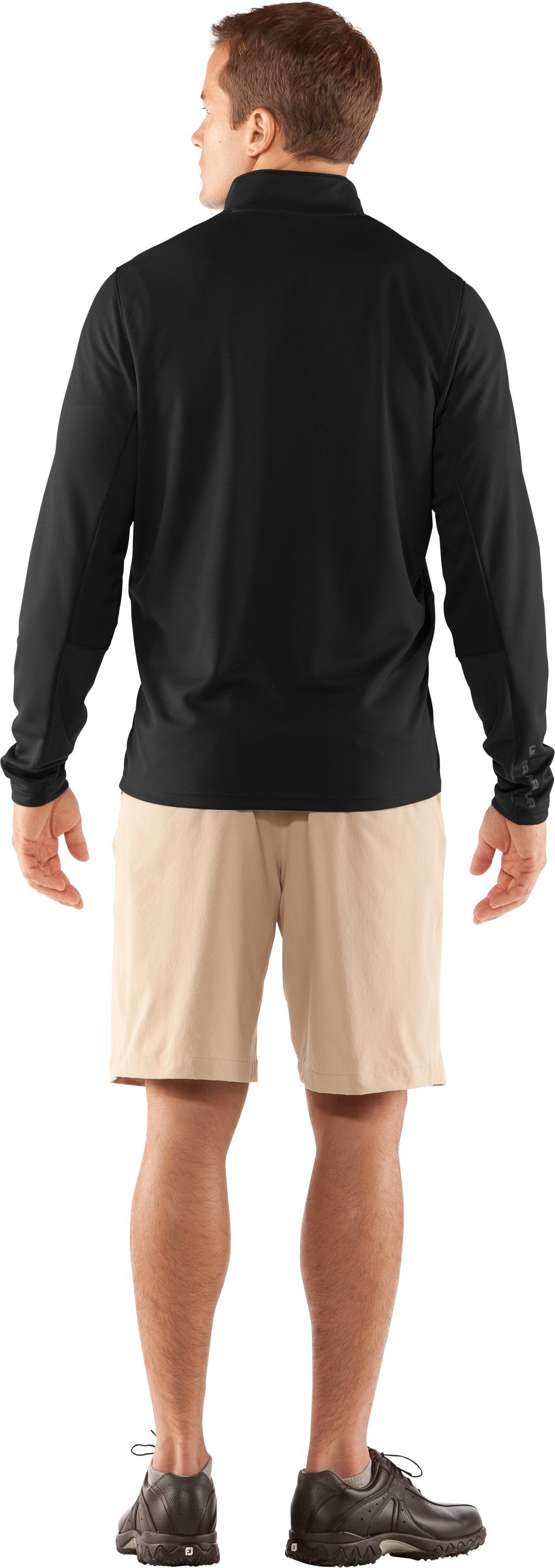Men's AllSeasonGear® ¼ Zip Golf Jacket, Black , Back
