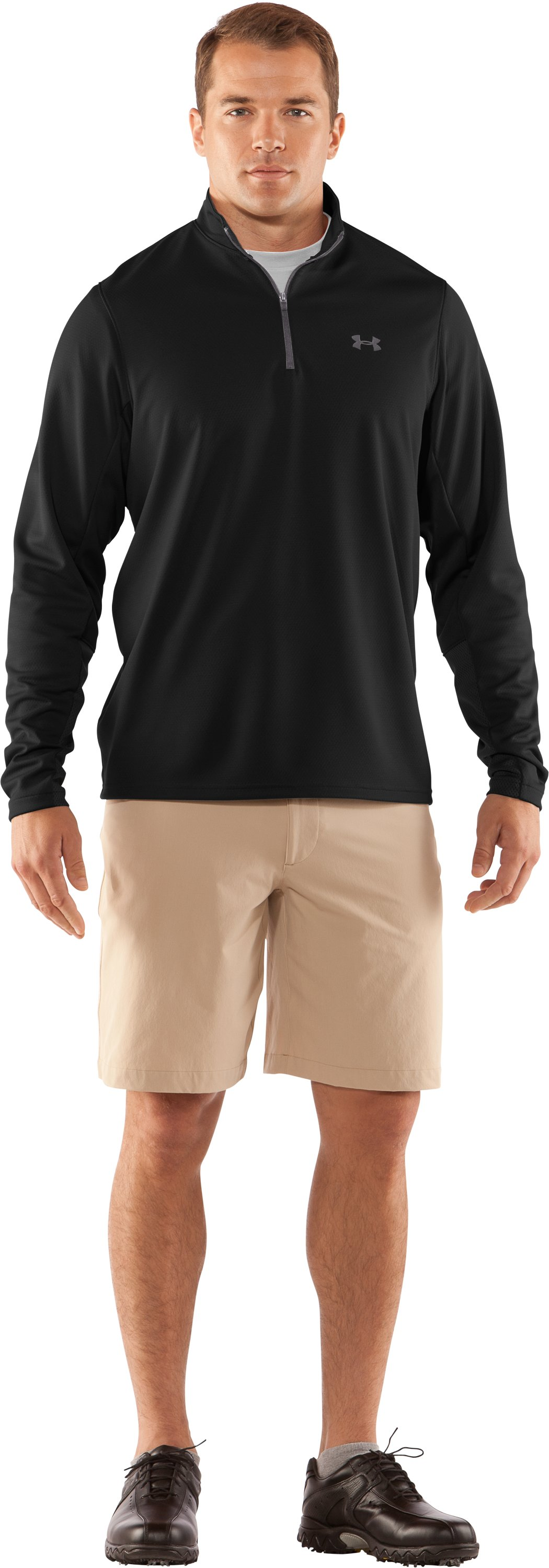 Men's AllSeasonGear® ¼ Zip Golf Jacket, Black