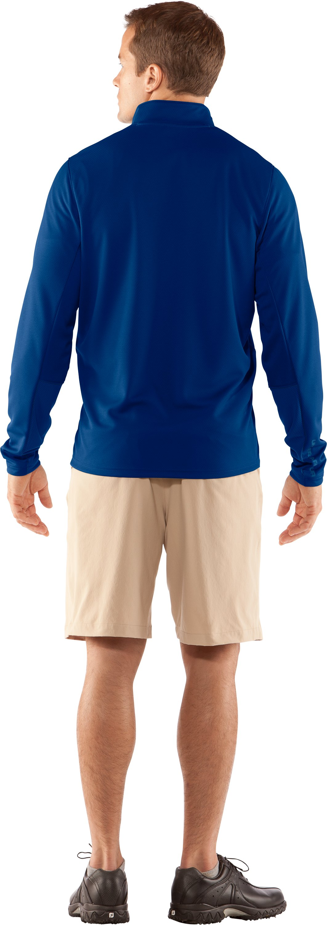 Men's AllSeasonGear® ¼ Zip Golf Jacket, EMPIRE BLUE, Back
