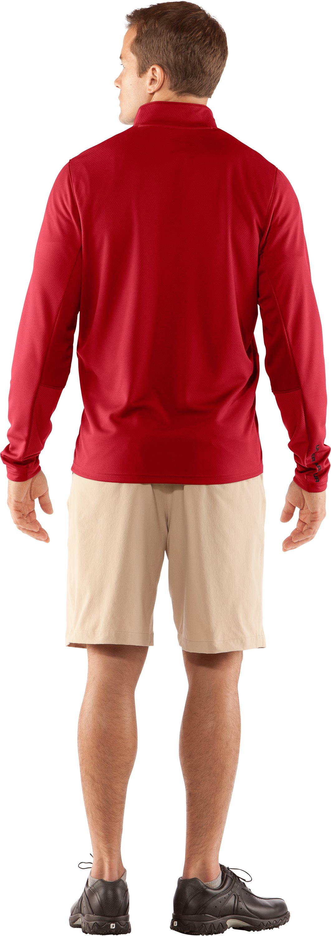 Men's AllSeasonGear® ¼ Zip Golf Jacket, Red, Back