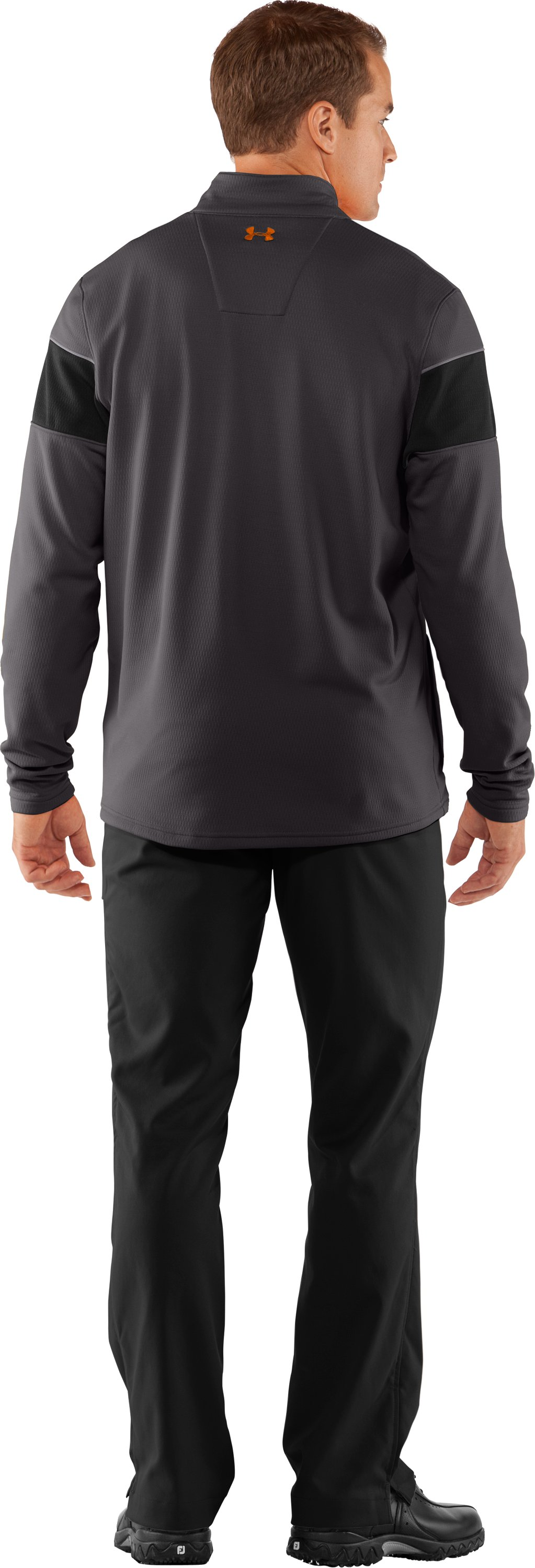 Men's UA Focus 4.0 Mid ¼ Zip Jacket, Charcoal, Back
