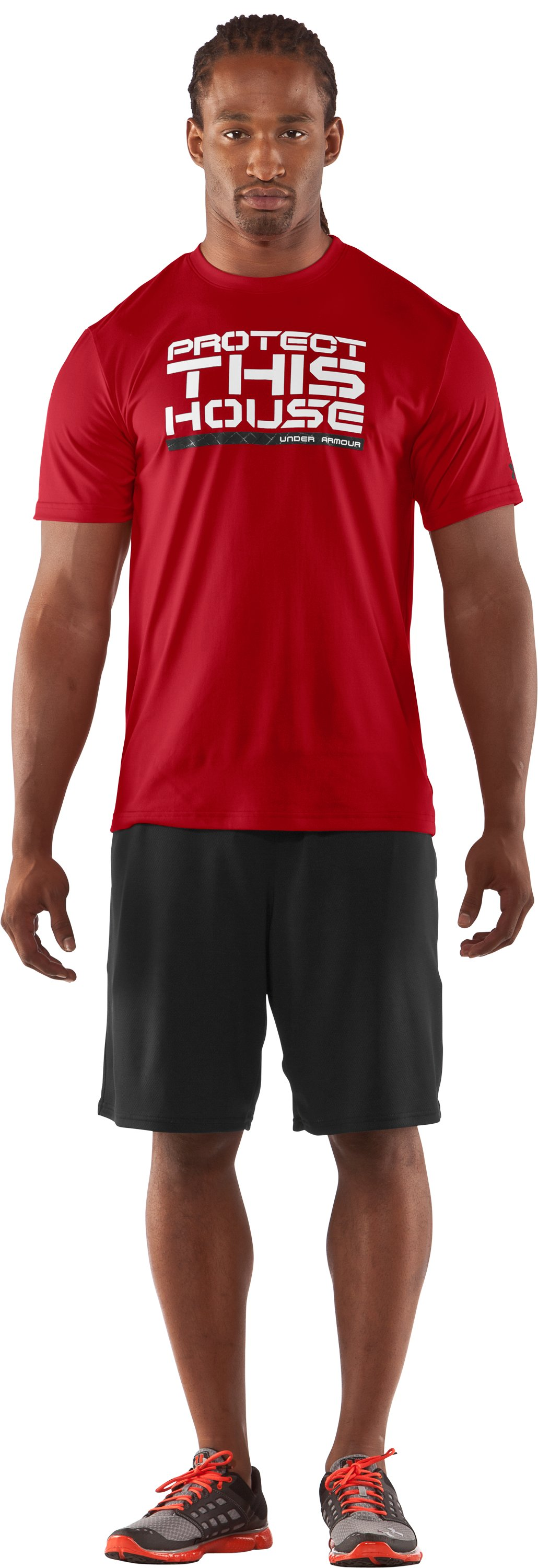 Men's PTH® Training Graphic T-Shirt, Red, Front