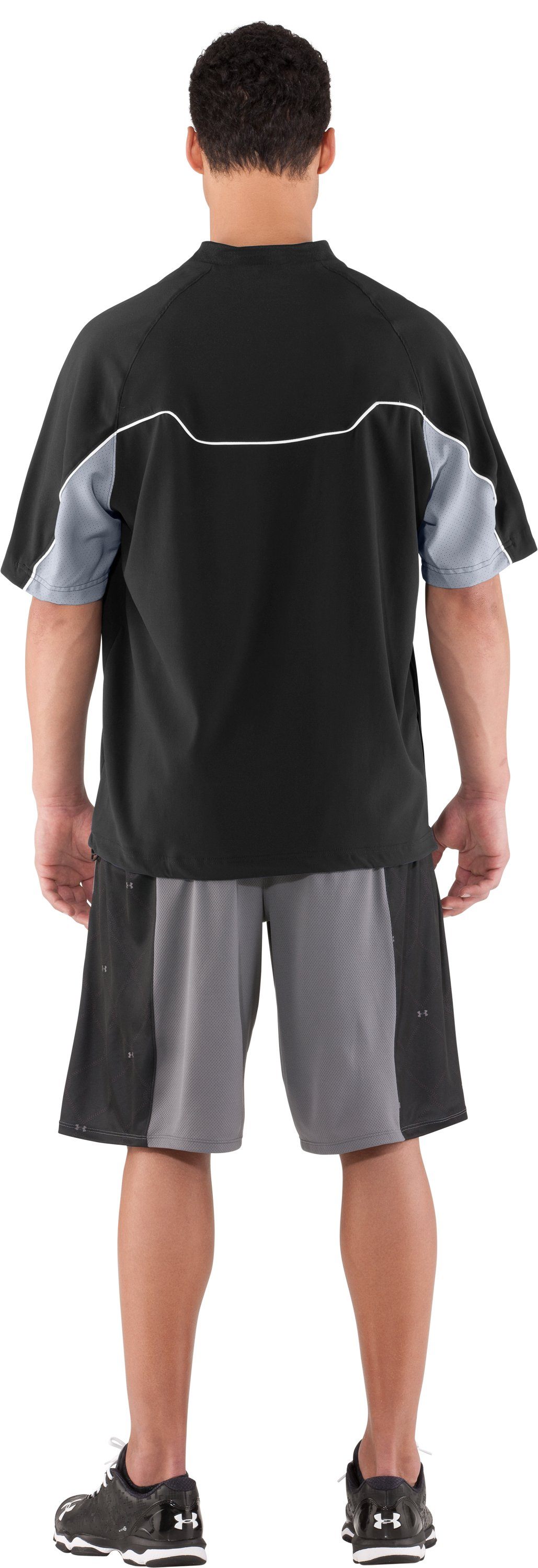 Men's UA Contender Cage Baseball Jacket, Black , Back