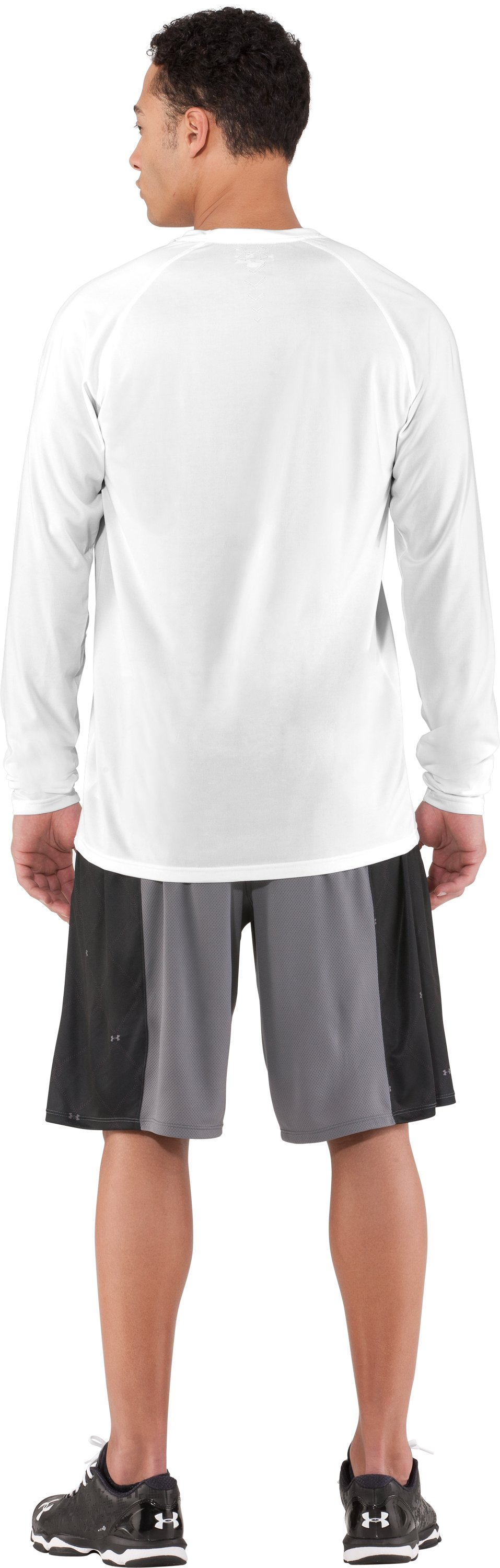 Men's UA Baseball Classic Long Sleeve T-Shirt, White, Back