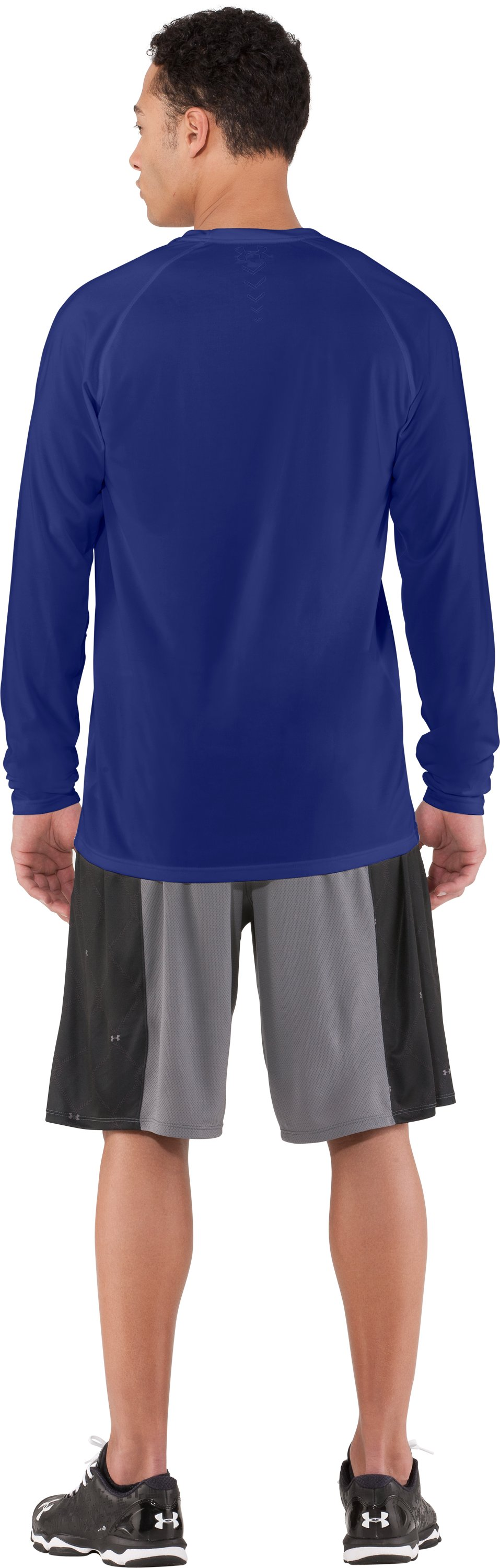 Men's UA Baseball Classic Long Sleeve T-Shirt, Royal, Back