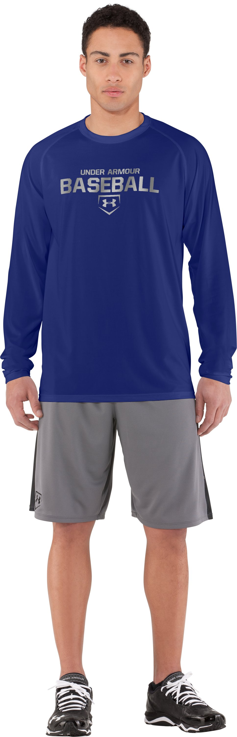Men's UA Baseball Classic Long Sleeve T-Shirt, Royal, Front