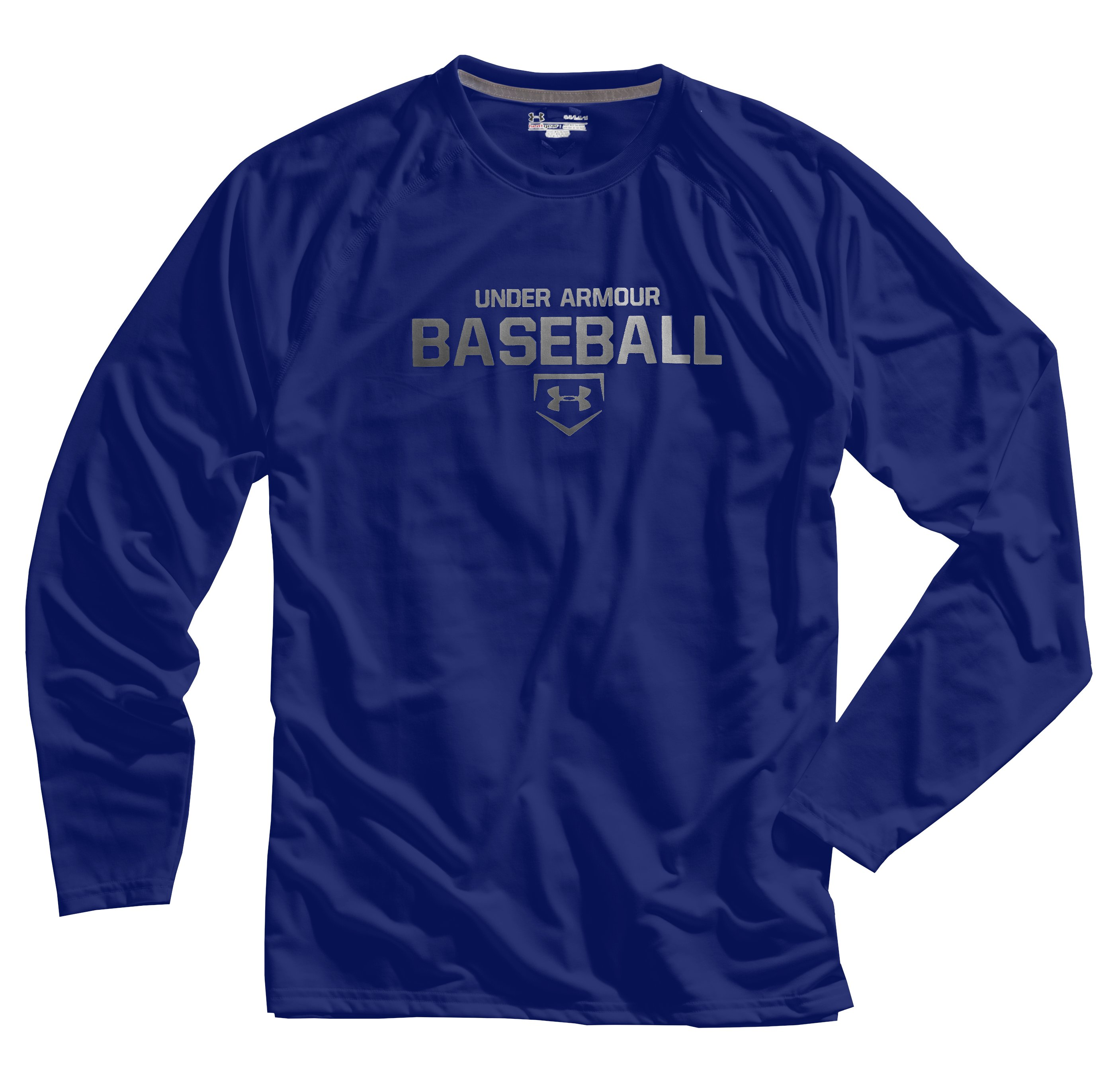 Men's UA Baseball Classic Long Sleeve T-Shirt, Royal, Laydown
