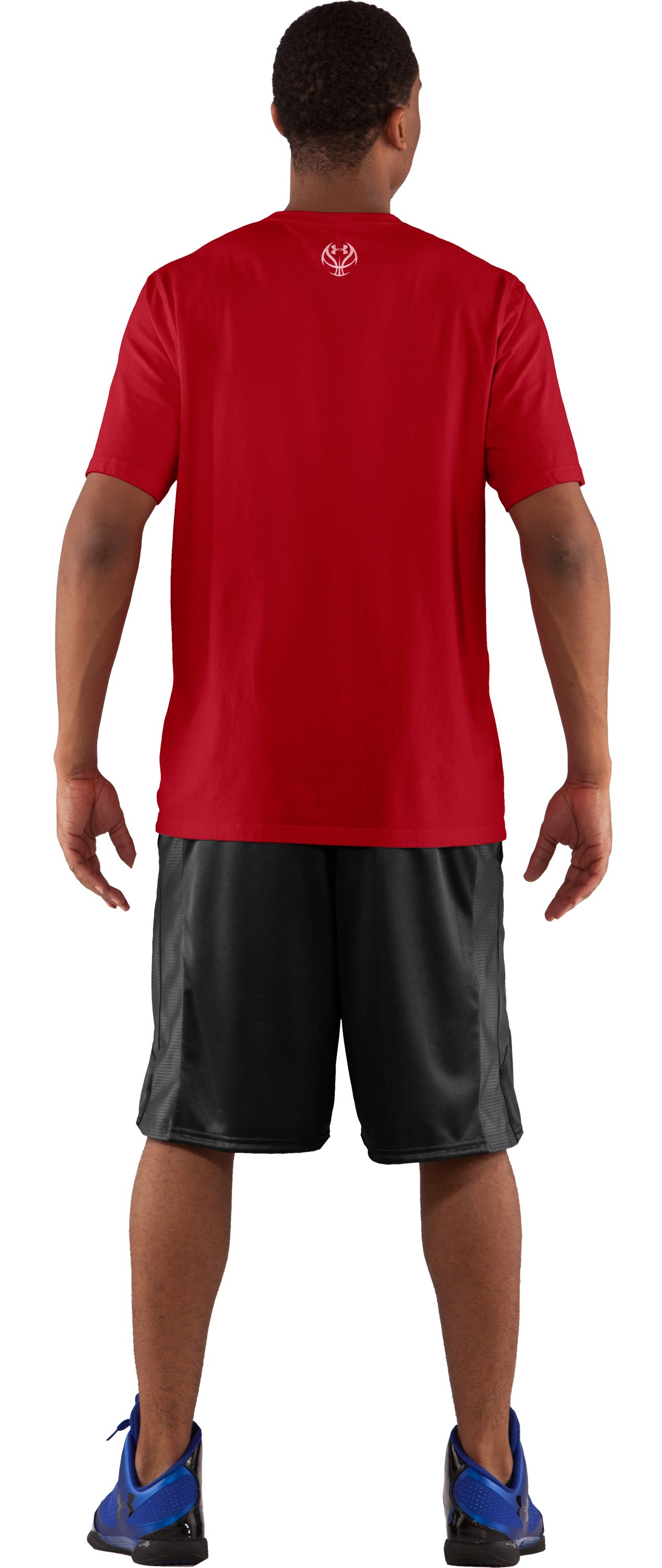 Men's UA Change Agent Graphic T-Shirt, Red, Back