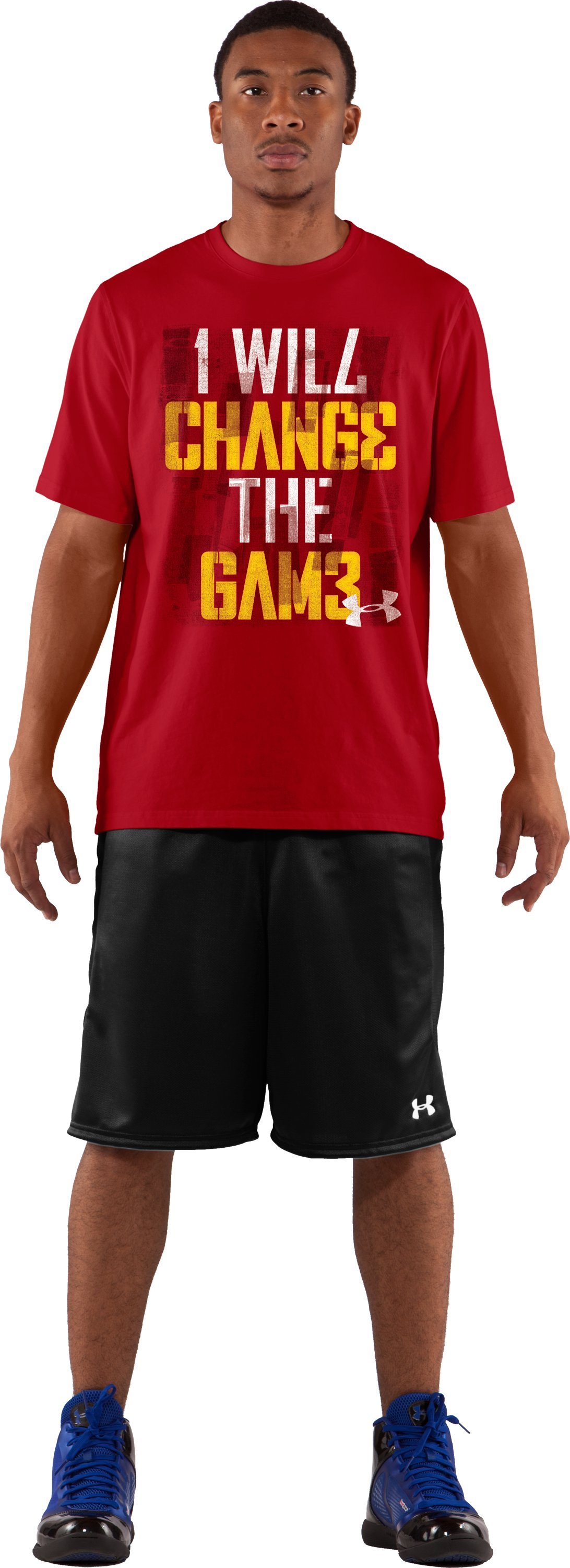 Men's UA Change Agent Graphic T-Shirt, Red, zoomed image