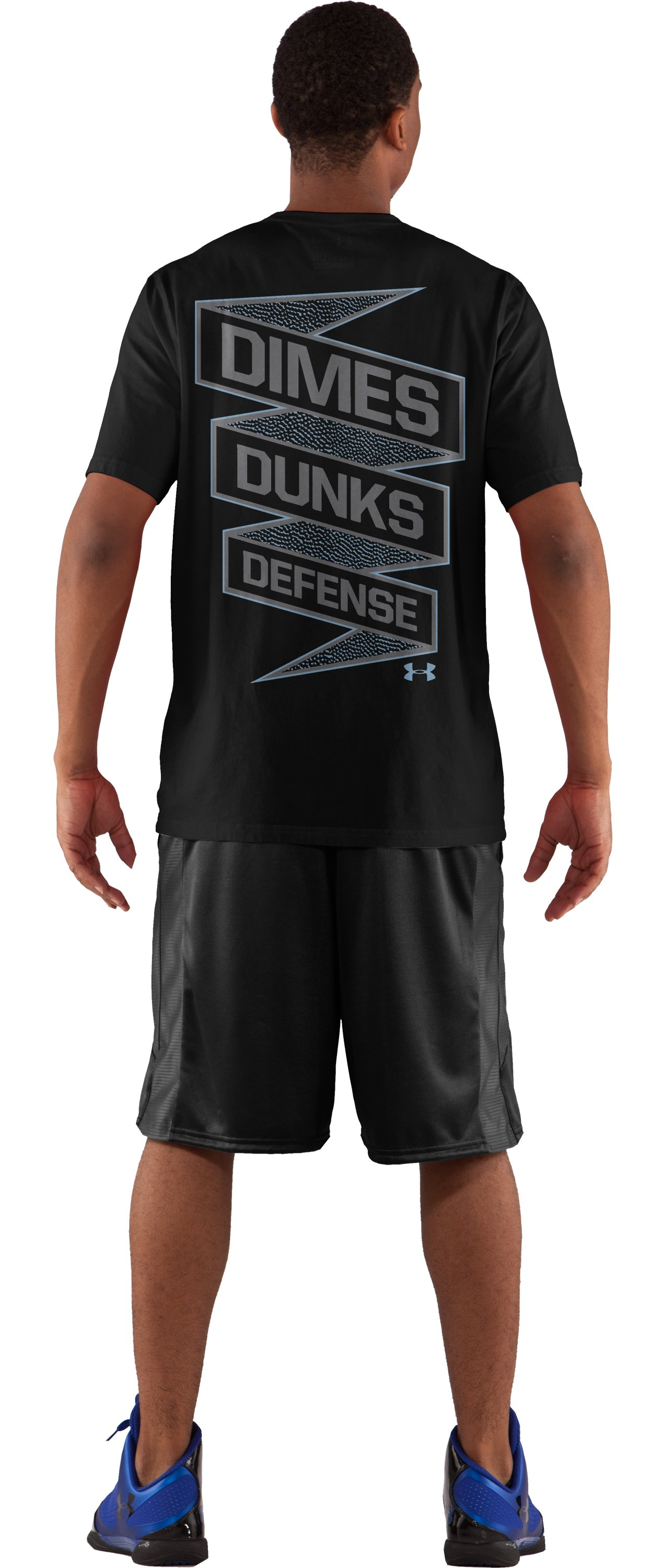 Men's UA Dime, Dunks & D Graphic T-Shirt, Black , Back