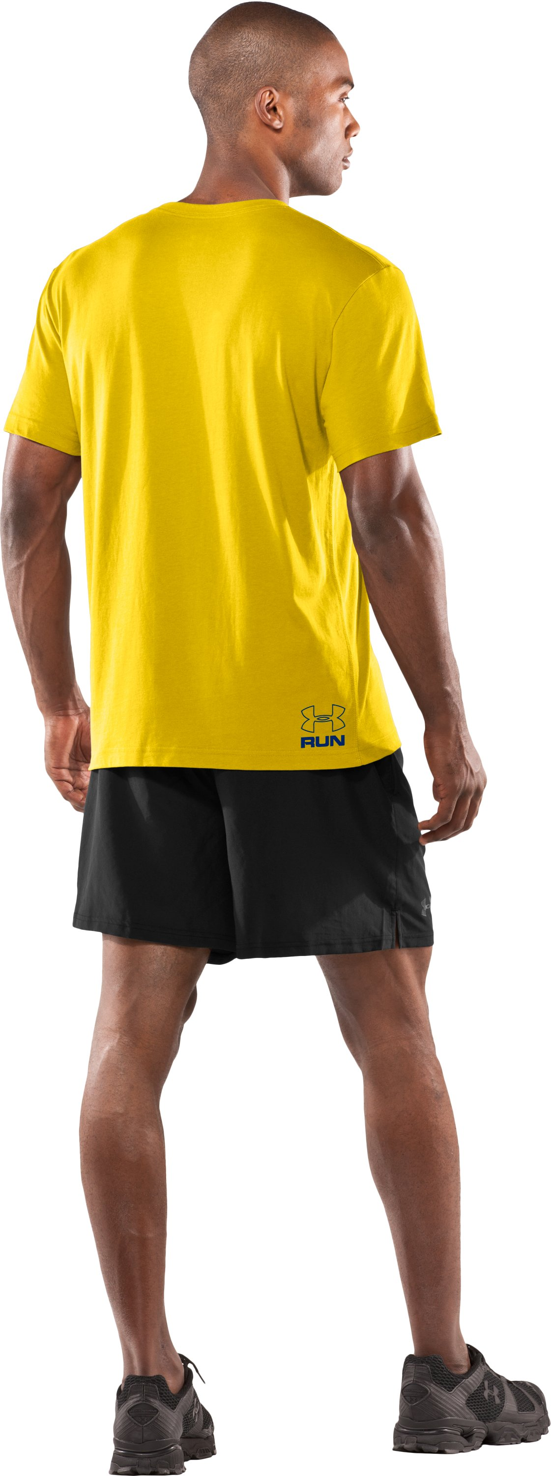 Men's UA Run Digital Graphic T-Shirt, Taxi, Back