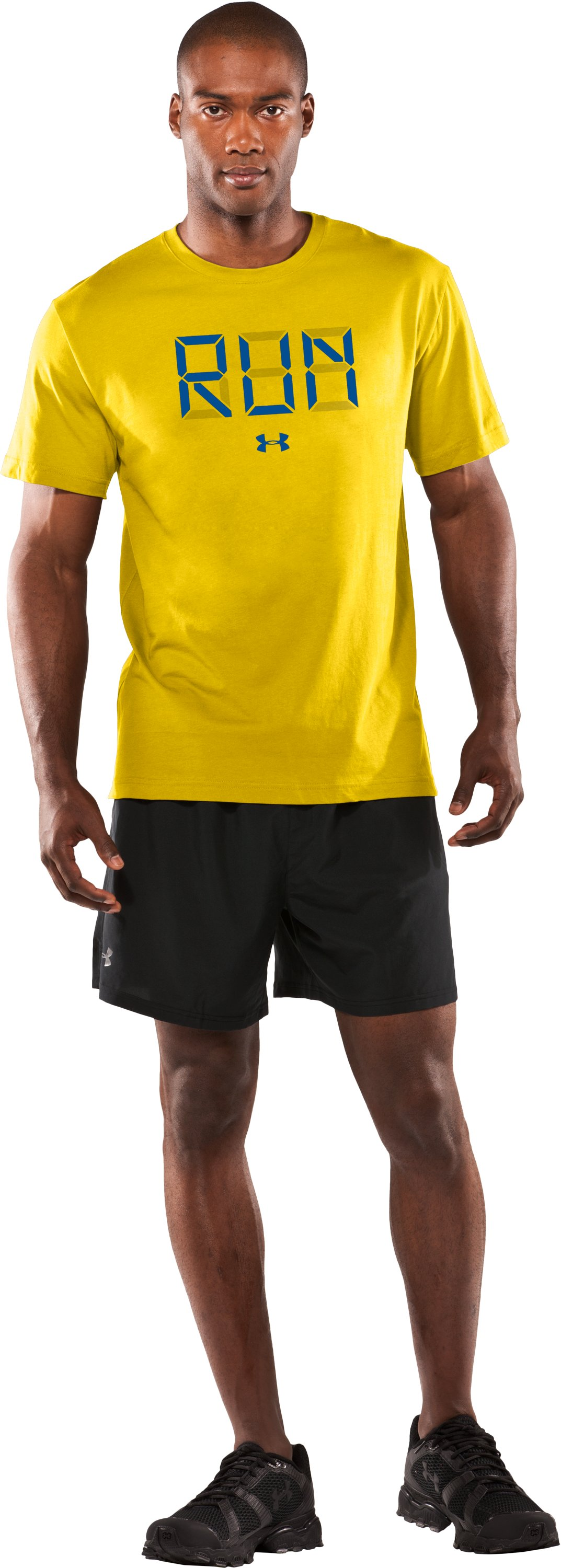 Men's UA Run Digital Graphic T-Shirt, Taxi, Front