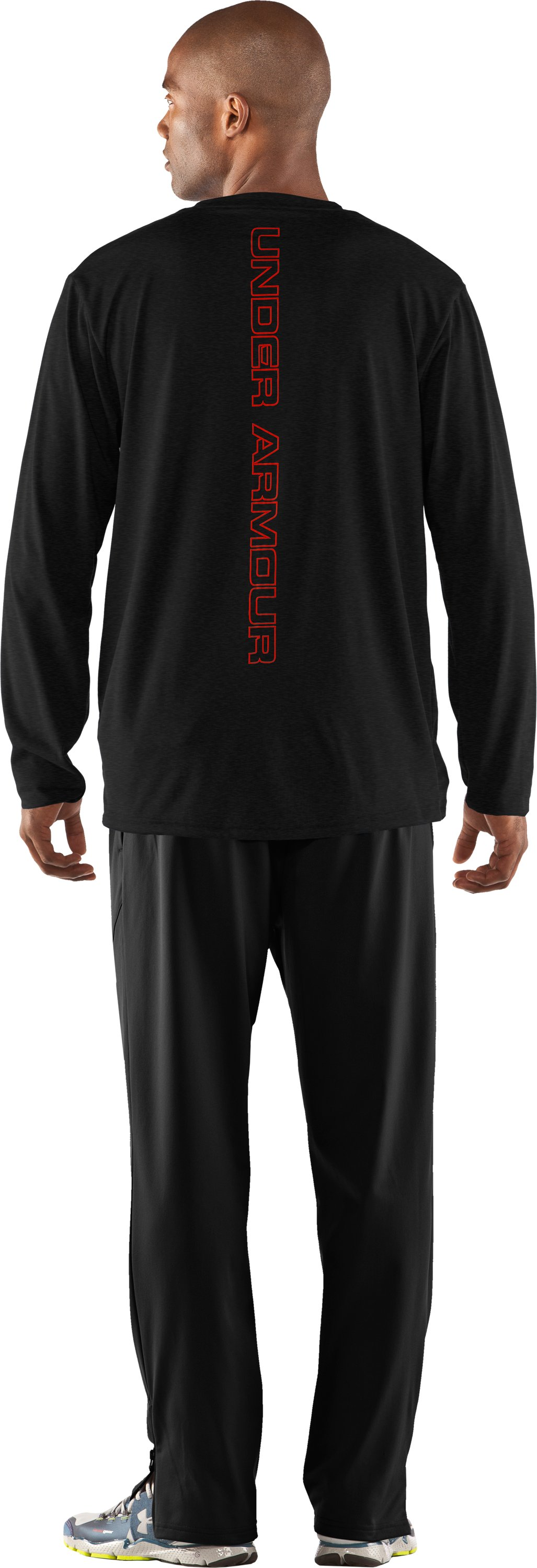 Men's UA Run Long Sleeve Graphic T-Shirt, Asphalt Heather, Back