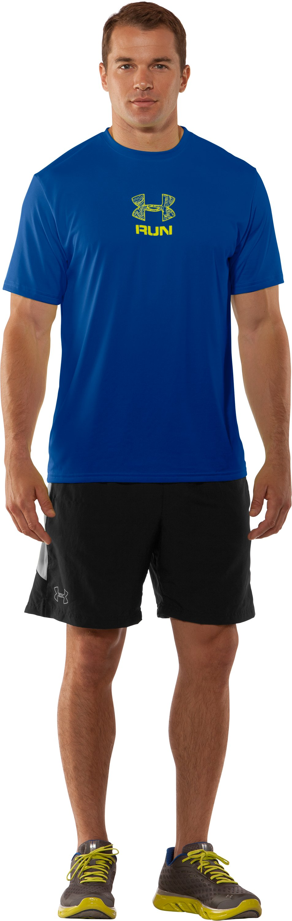 Men's UA Tough Run Graphic T-Shirt, Squadron, Front