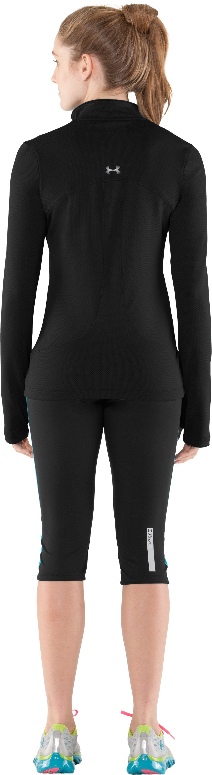 Women's ColdGear® Thermo ¼ Zip, Black , Back