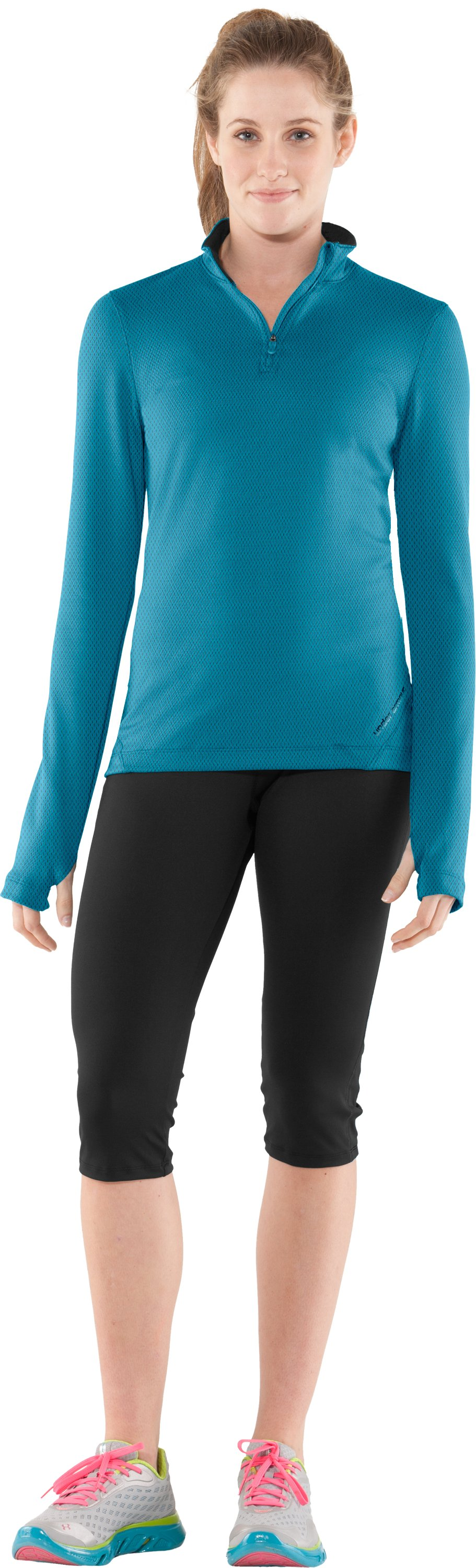 Women's ColdGear® Thermo ¼ Zip, Break, Front