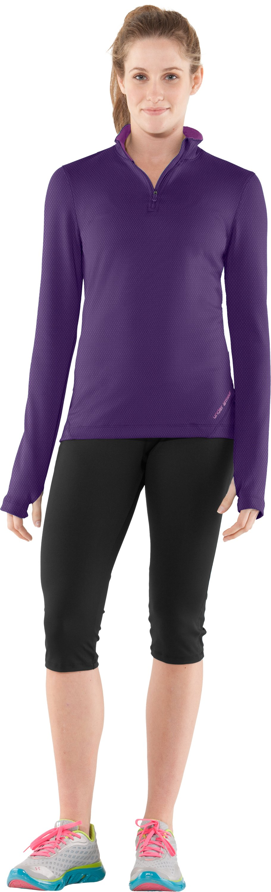 Women's ColdGear® Thermo ¼ Zip, Zone, zoomed image