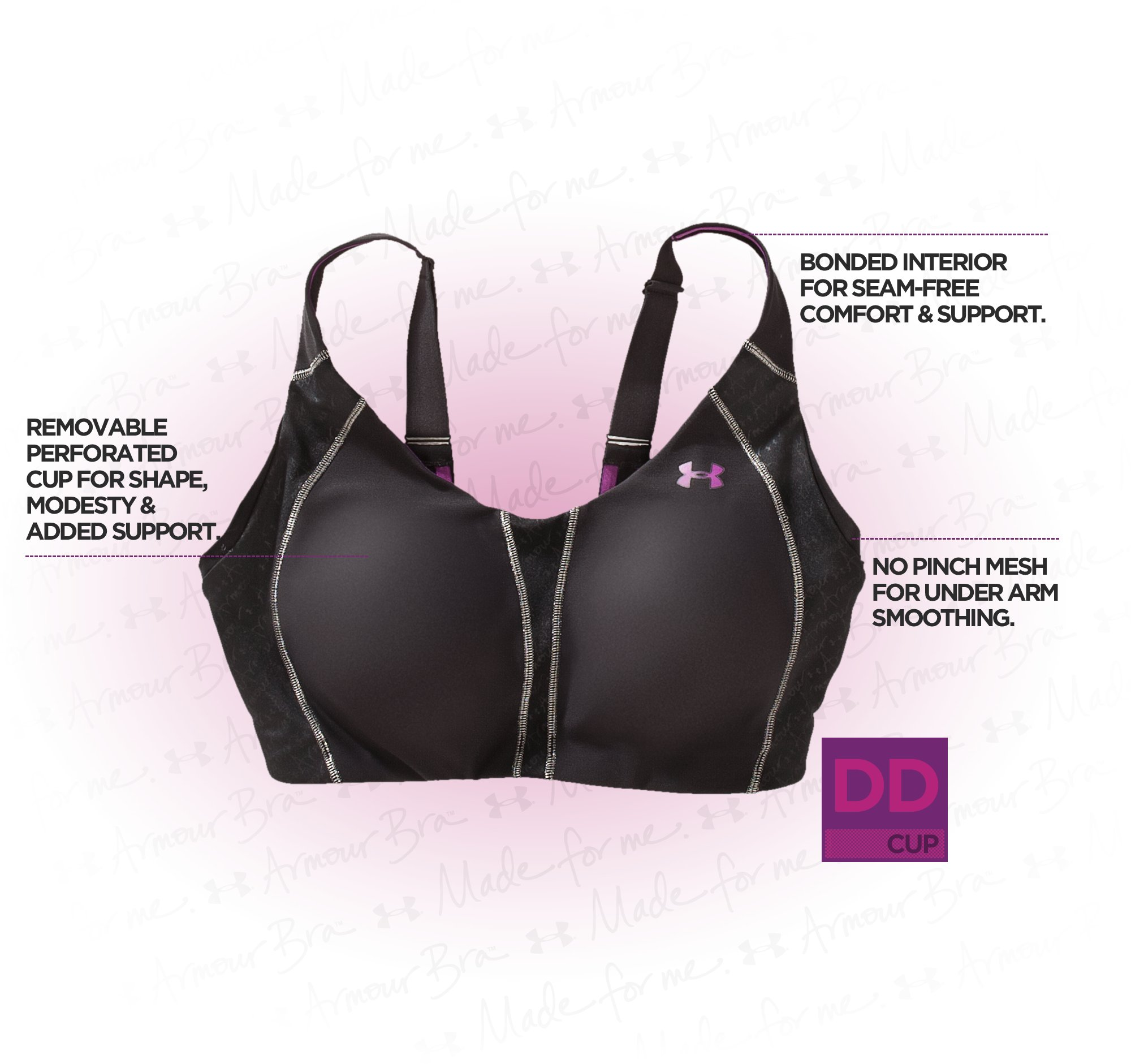 Women's Armour Bra® DD Cup, Black