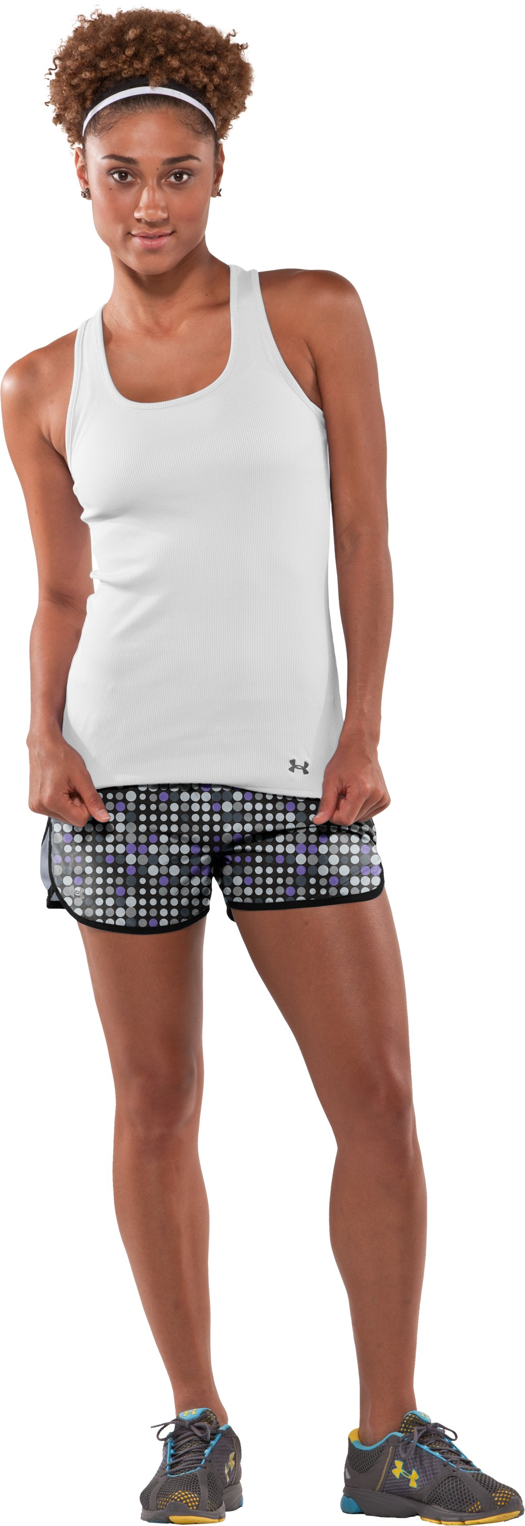 "Women's UA Escape Printed 3"" Shorts, Black , Front"