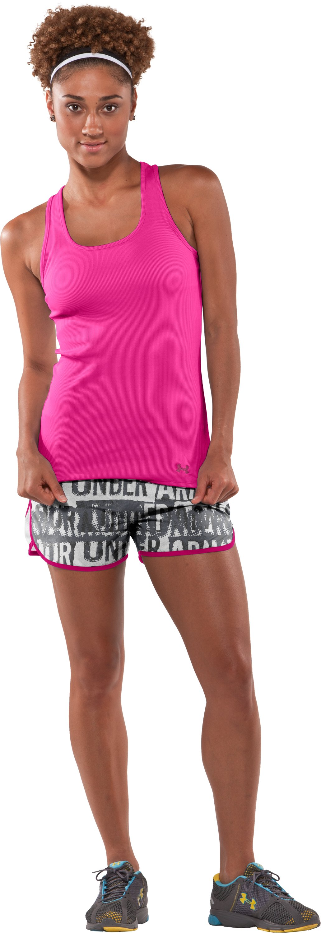 "Women's UA Escape Printed 3"" Shorts, White, zoomed image"