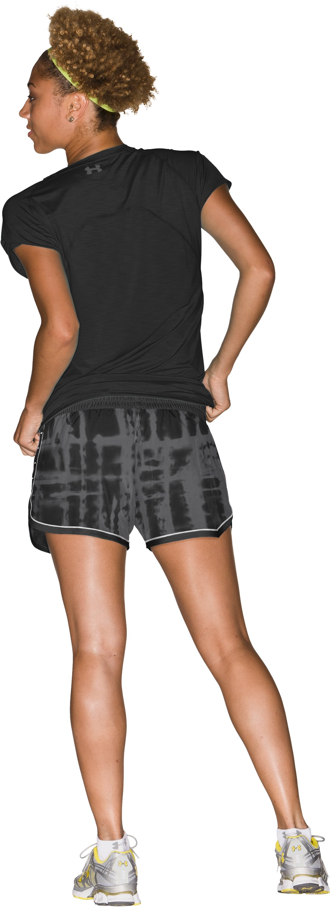 "Women's UA Great Escape Printed 3"" Shorts, Black , Back"