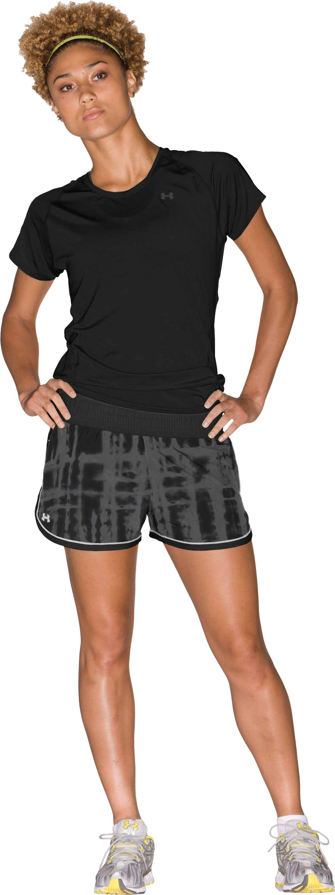 "Women's UA Great Escape Printed 3"" Shorts, Black , Front"
