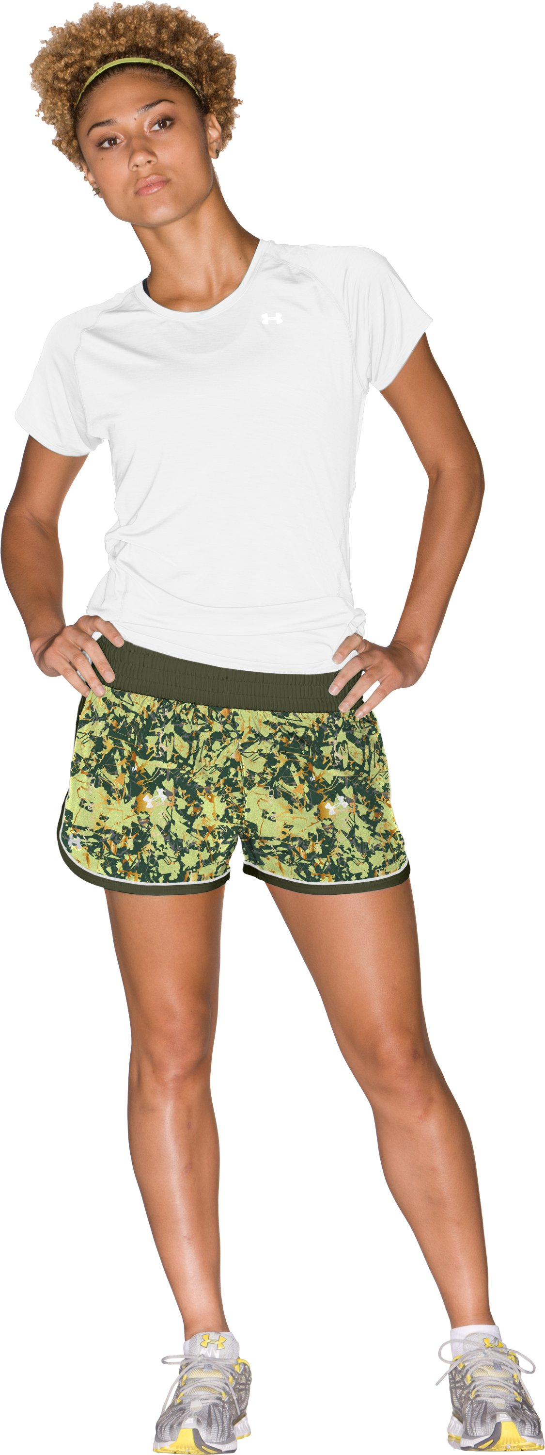"Women's UA Great Escape Printed 3"" Shorts, Root, Front"