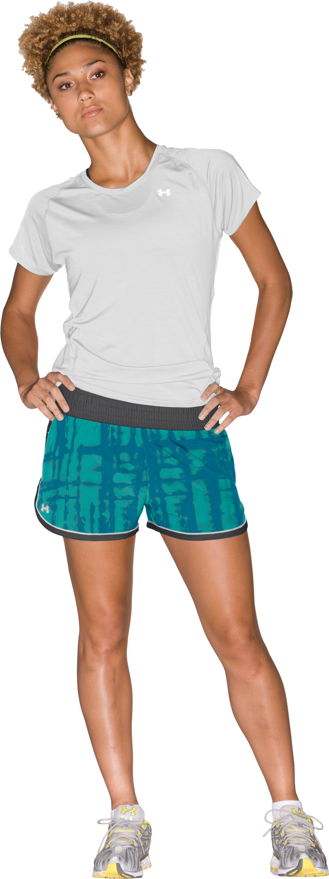 "Women's UA Great Escape Printed 3"" Shorts, Break, Front"