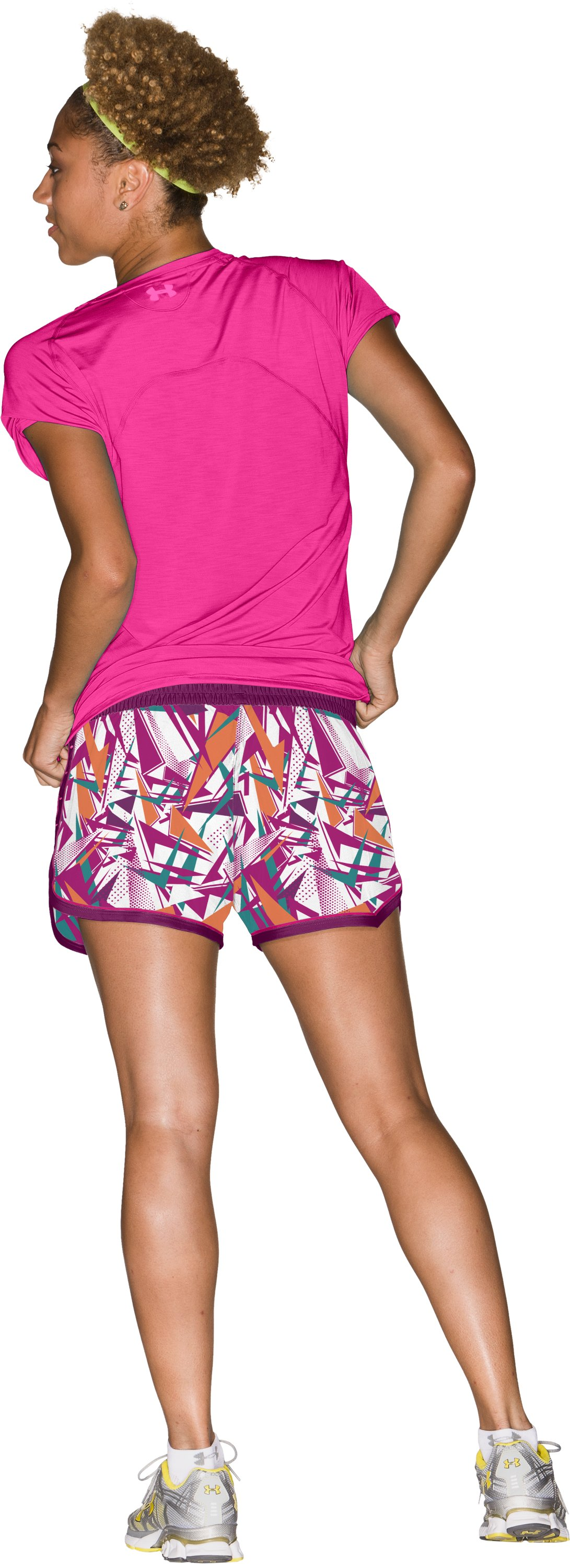"Women's UA Great Escape Printed 3"" Shorts, Rush, Back"