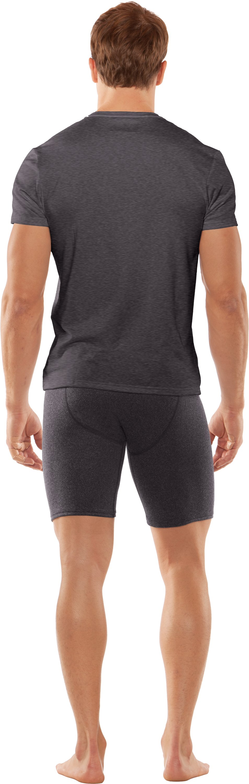 Men's UA Touch V-Neck Undershirt, Carbon Heather, Back