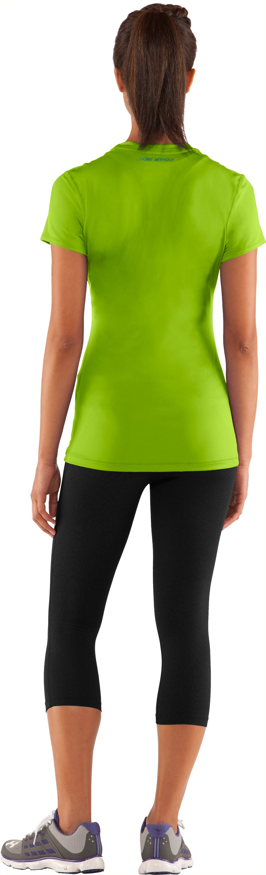 Women's HeatGear® Sonic Short Sleeve, Fusion, Back