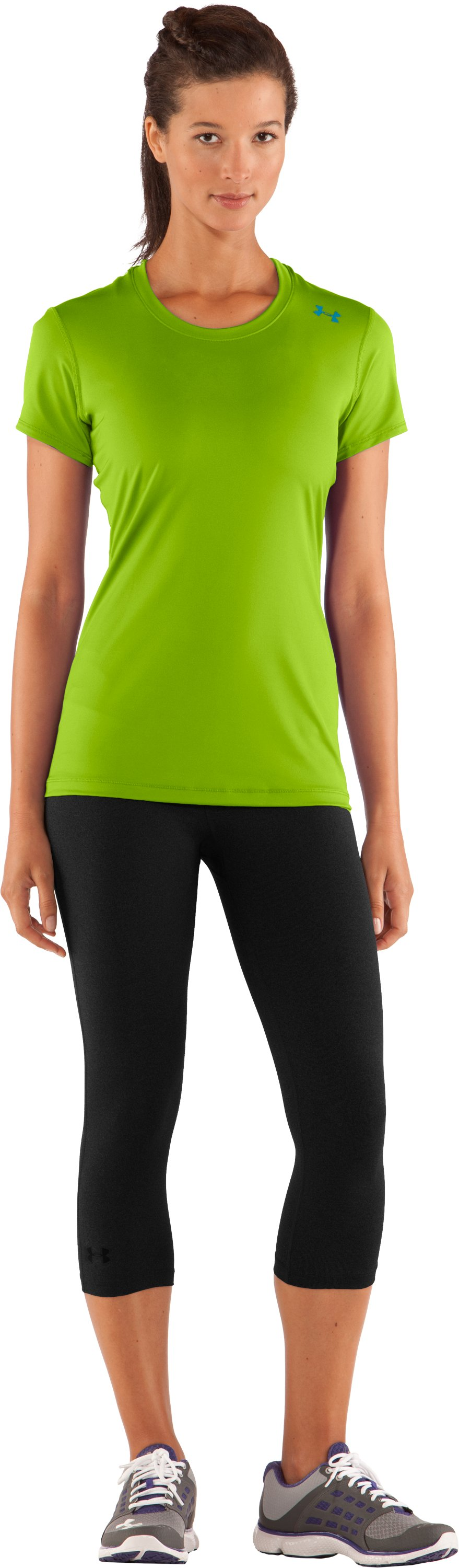 Women's HeatGear® Sonic Short Sleeve, Fusion, Front