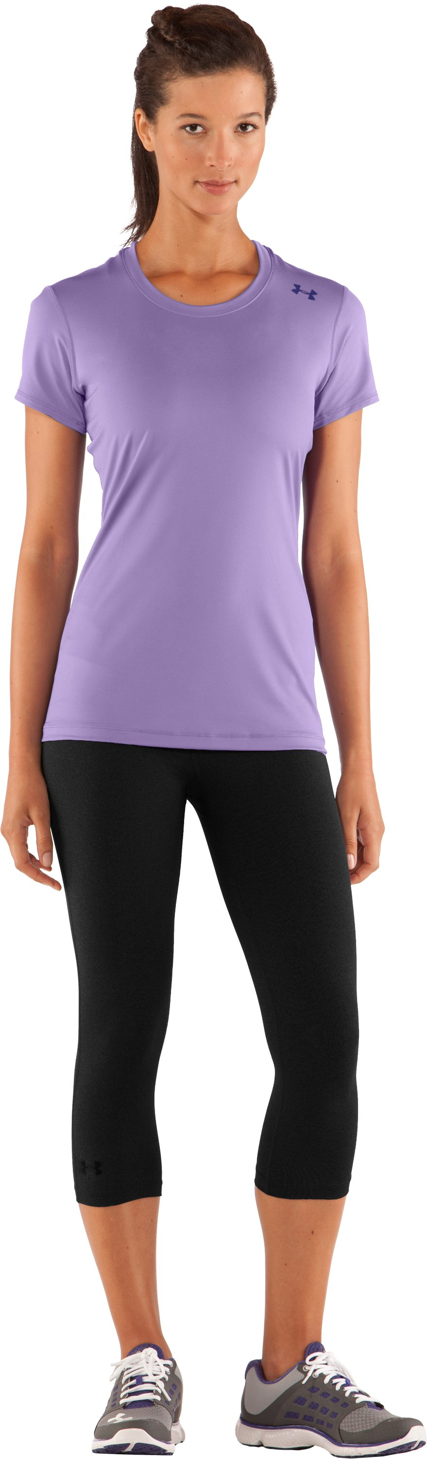 Women's HeatGear® Sonic Short Sleeve, Petunia