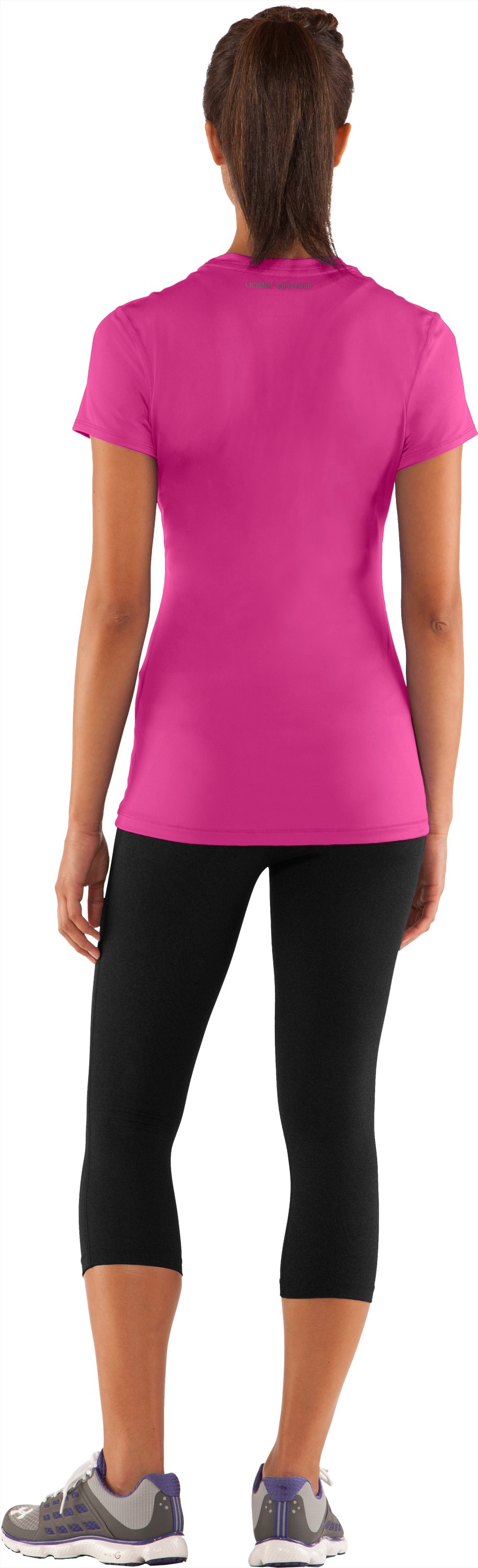 Women's HeatGear® Sonic Short Sleeve, Playful, Back