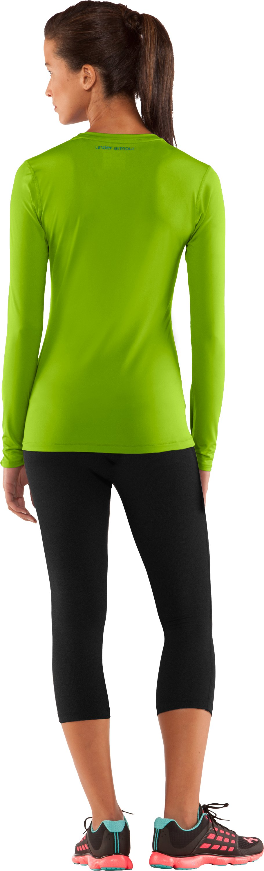 Women's HeatGear® Sonic Long Sleeve, Fusion, Back