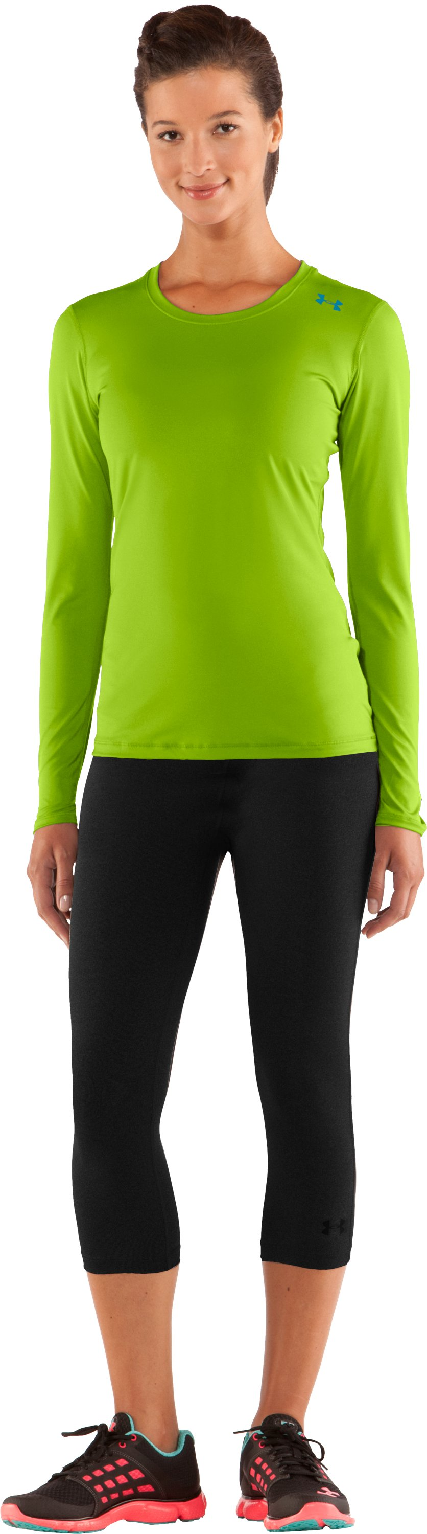 Women's HeatGear® Sonic Long Sleeve, Fusion, Front