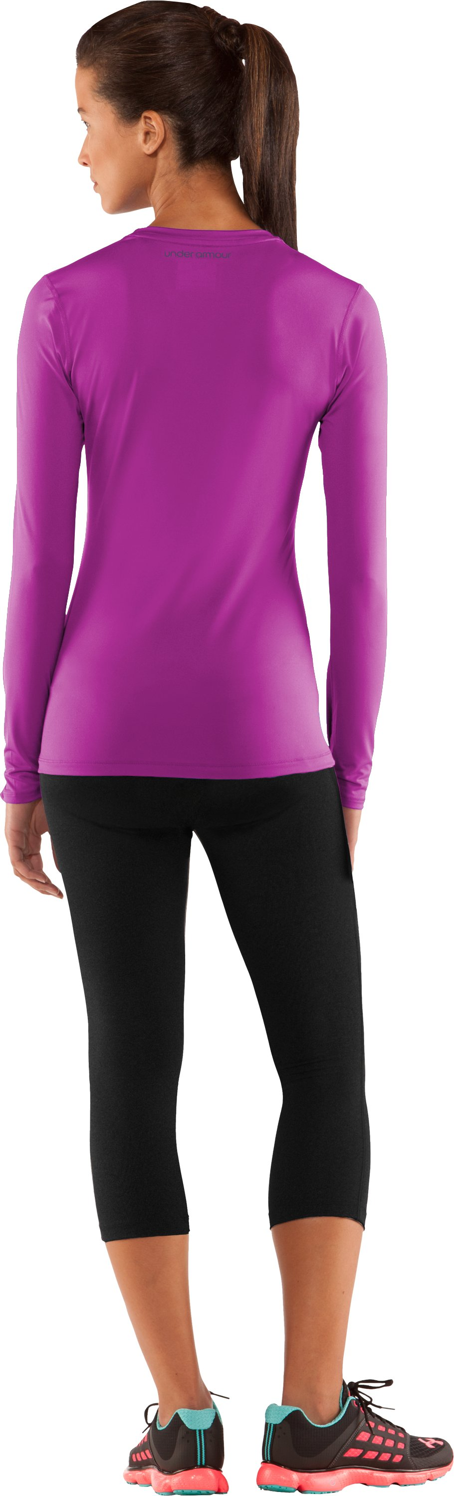 Women's HeatGear® Sonic Long Sleeve, STROBE, Back
