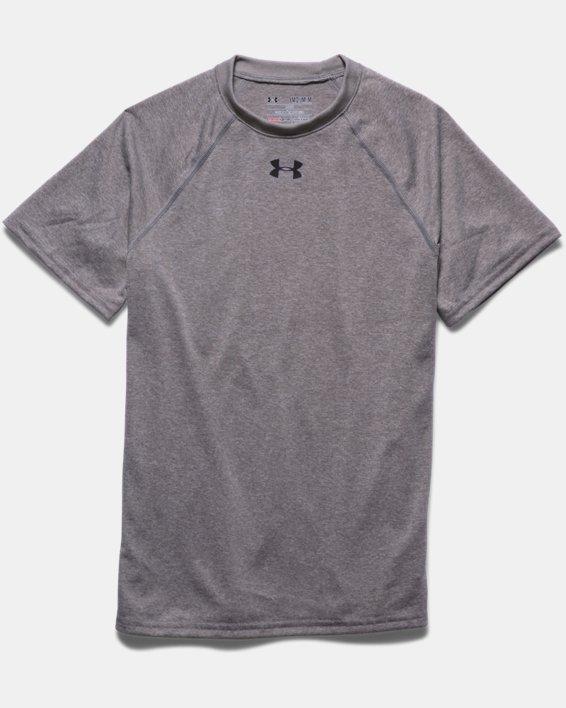 Boys' UA Locker Short Sleeve T-Shirt, Gray, pdpMainDesktop image number 2