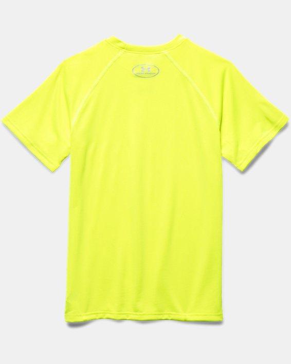 Boys' UA Locker Short Sleeve T-Shirt, Yellow, pdpMainDesktop image number 3