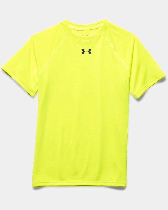 Boys' UA Locker Short Sleeve T-Shirt, Yellow, pdpMainDesktop image number 2