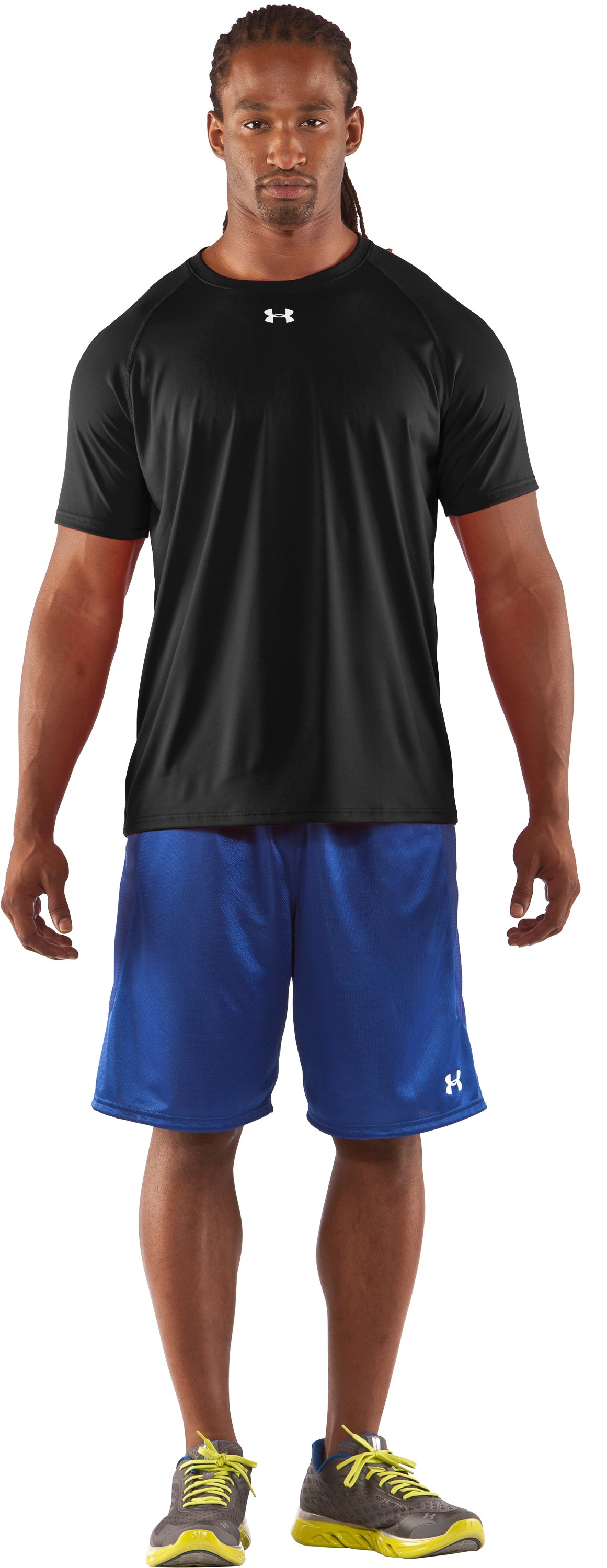 Men's UA Locker T-Shirt, Black , Front