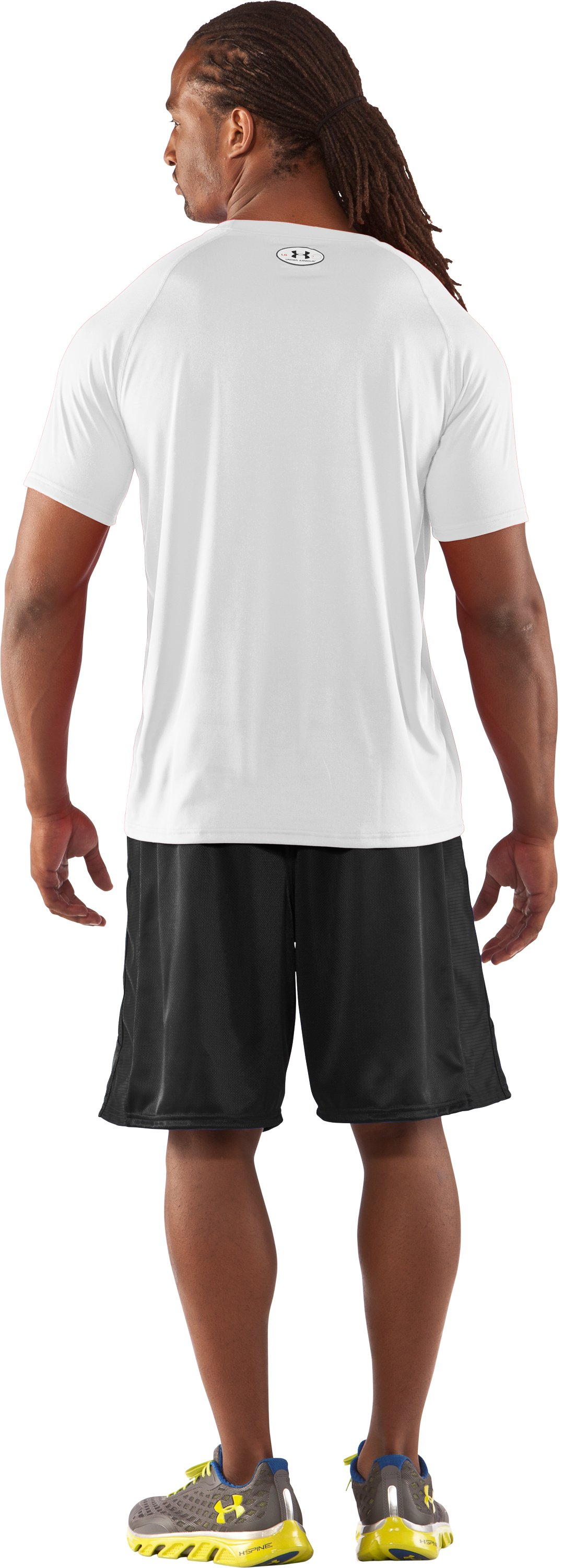 Men's UA Locker T-Shirt, White, Back