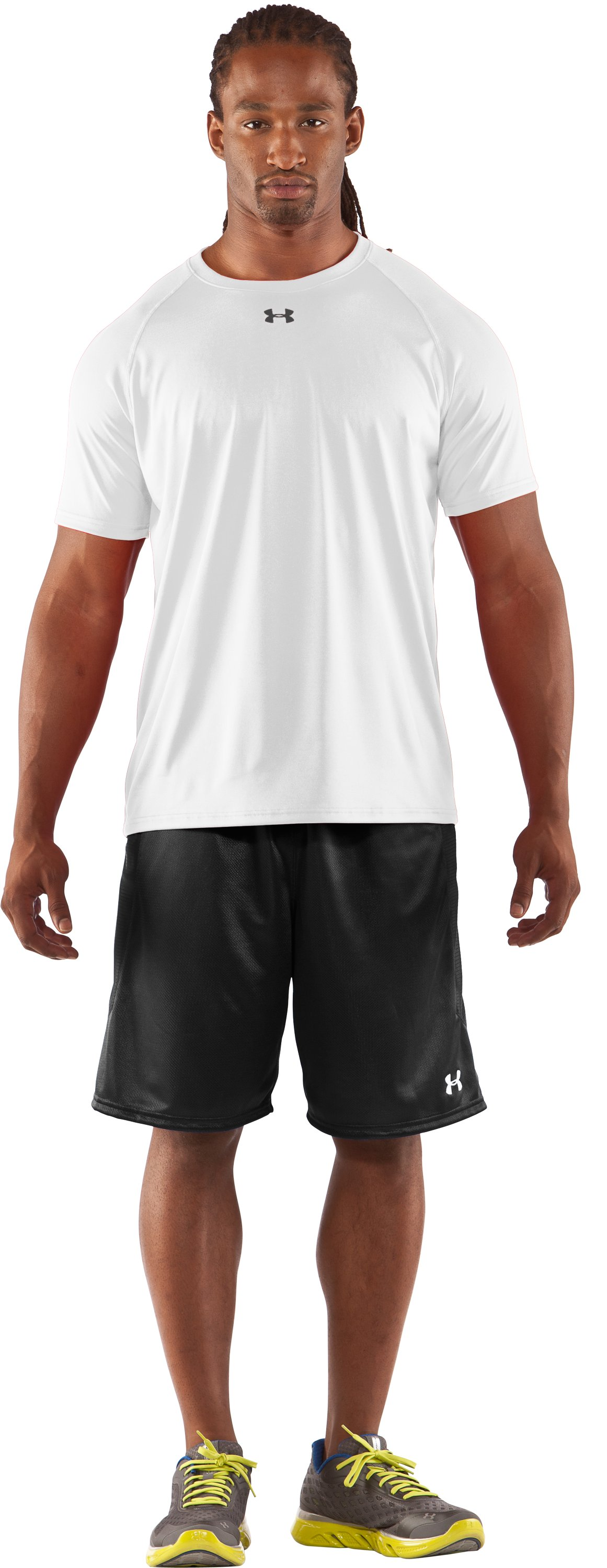 Men's UA Locker T-Shirt, White, Front
